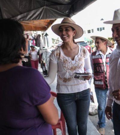 Los problemas de violencia en Cancún han afectado directamente a las familias de diversas regiones, afirma Marybel Villegas en su recorrido por el municipio