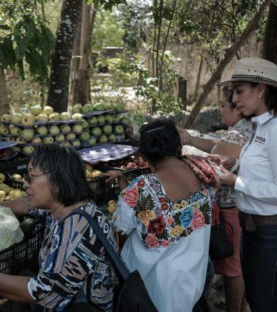 Desde San Lázaro, promete Marybel Villegas en recorrido por Leona Vicario, se duplicará salario mínimo y habrá más educación