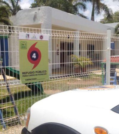 A revisión refugios anticiclónicos de Puerto Morelos por las 14 tormentas tropicales que se esperan este año