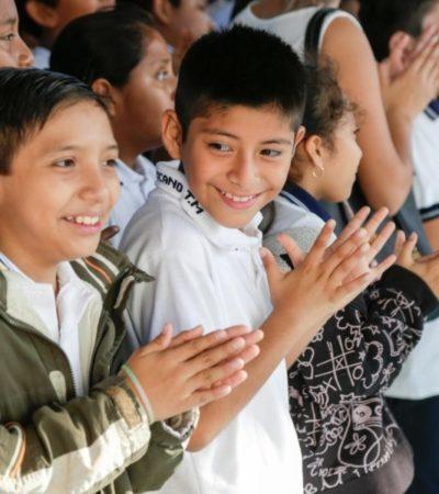 Estudiantes de primaria en Solidaridad conocen los Programas Educadores en temas de medio ambiente, deporte y cultura