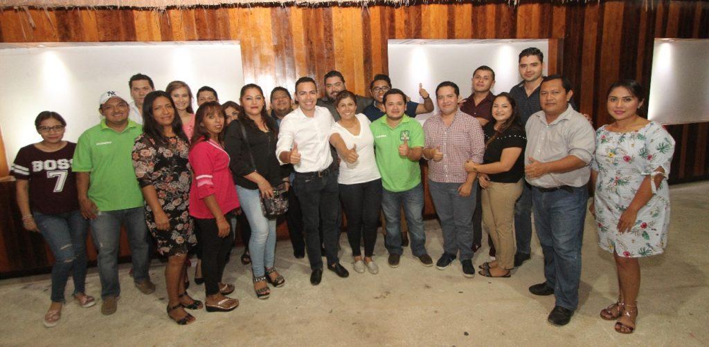 Leslie Hendricks Rubio se reúne con líderes del PVEM para afinar estrategia electoral