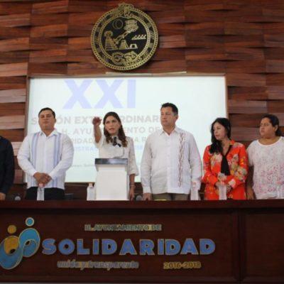 Samaria Angulo rinde protesta como nueva presidenta municipal en Solidaridad junto con seis regidores suplentes