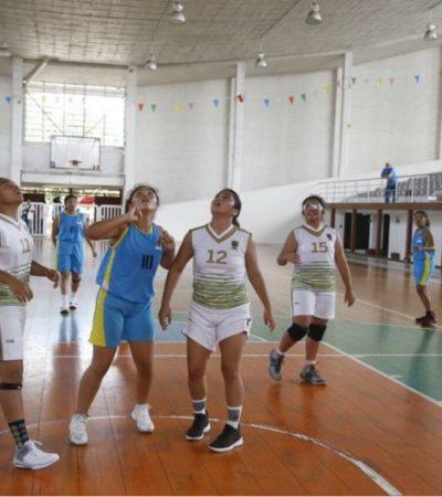 Selección femenina de baloncesto de QR consigue boleto para Olimpiada Nacional