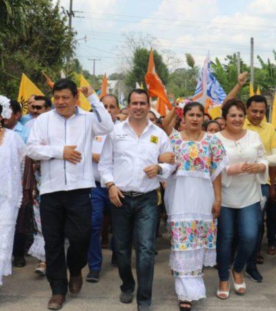 Aguilar Osorio respalda registros de candidatos a presidentes municipales de Tulum, José María Morelos, Felipe Carrillo Puerto y Bacalar de la coalición 'Por Quintana Roo al Frente'