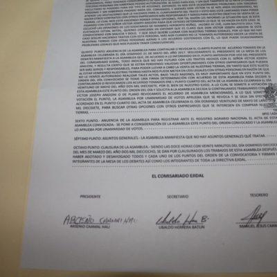 Ejidatarios de Tintal revocan millonaria venta de tierras a Víctor Joseph Angioni por no pagar lo convenido