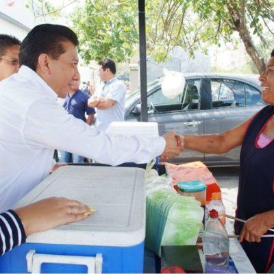 Jesús Pool asegura que pugnará por los intereses de los quintanarroenses al iniciar campaña en Prado Norte en busca de diputación federal