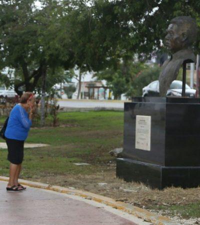 Los personajes con bustos en Cancún reflejan lo que representa este polo turístico en el mundo