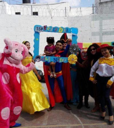 A los niños, en su día, también se les celebra en la cárcel de Cancún
