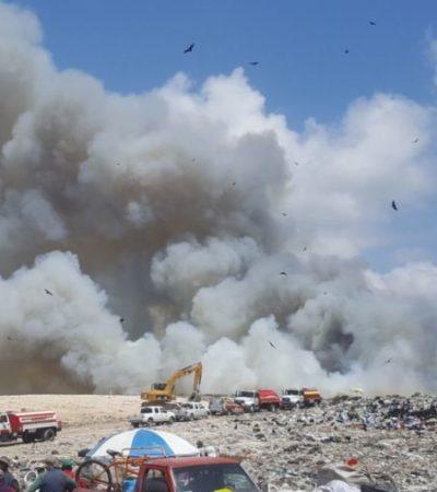 Ni alerta ni orden de evacuación por incendio en Chetumal porque falta poco para controlar fuego, dicen