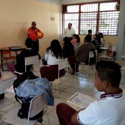 La cultura de la prevención de incendios forestales se imparte entre estudiantes de secundaria en Puerto Morelos