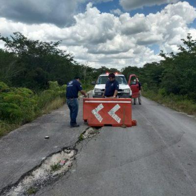 Clausuran puente a Naranjal Poniente por reparación
