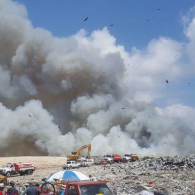 Fuego en cavernas mantiene vivo incendio en basurero de OPB que se espera sea apagado el sábado