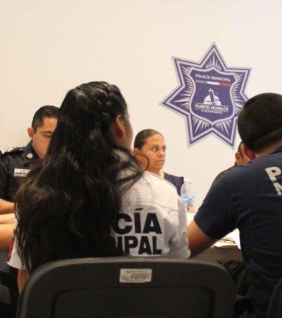 Enseñan a policía municipal de Puerto Morelos los seis niveles del uso de la fuerza