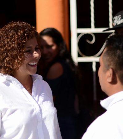 Recorre Leslie Hendricks Rubio la Colosio de Playa del Carmen y se compromete a escuchar y atender a los ciudadanos