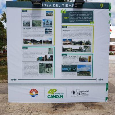 Quedó corregida la línea de tiempo con la que se celebran los 48 años de la fundación de Cancún