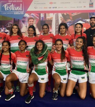 La cancunense Margely Isabel Angulo Duarte participa en mundial de rugby en Hong Kong