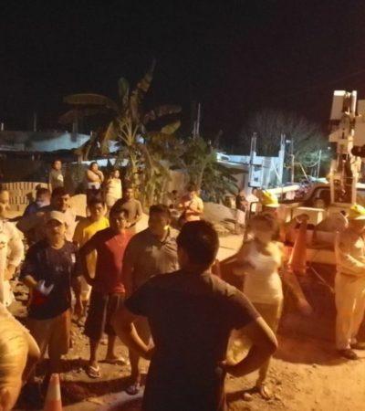 Bloqueo en Akumal revela corrupción de trabajadores de la CFE que colocan 'diablitos' al mejor postor