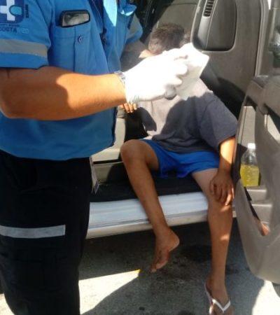 INSEGURIDAD EN LA COLOSIO: La suerte de un mini-asaltante de 12 años que golpea a mujer se acaba cuando él mismo se autolesiona y lo detienen