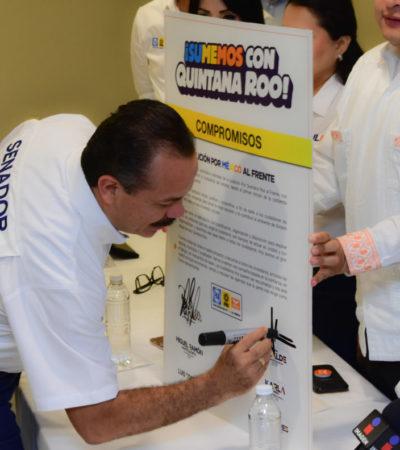 FIRMAN COMPROMISOS EN CHETUMAL: Pide Julián Ricalde votar a los candidatos del 'Frente' para consolidar desde el Congreso el trabajo del Gobernador en QR