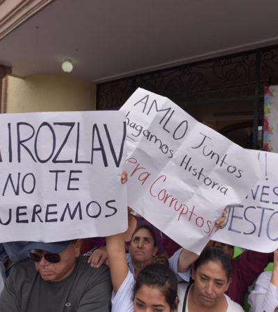 Enfrenta AMLO protestas de militantes de Morena por inclusión de priista durante su gira por Coahuila y Durango