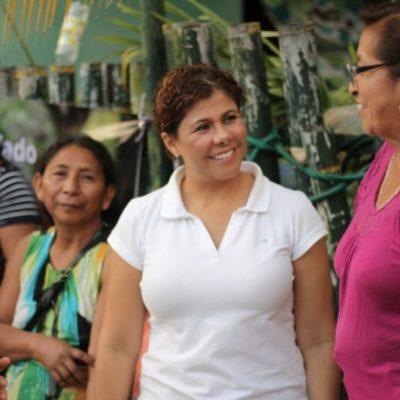 Leslie Hendricks Rubio prometió a los habitantes de la Colonia Ampliación regularizar terrenos