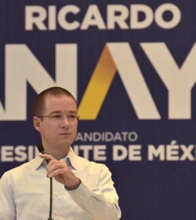 """El debate será con AMLO no con quien va en """"un lejano tercer lugar"""", responde Anaya a reto de Meade"""