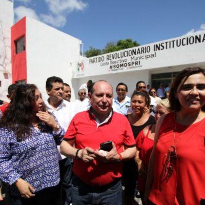 Presenta alianza PRI-PVEM-Panal a Mario Machuca como relevo emergente a la Alcaldía de BJ y dice que entrará con 'mano dura' contra la inseguridad