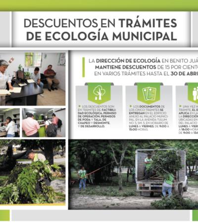Siguen los descuentos en Ecología Municipal
