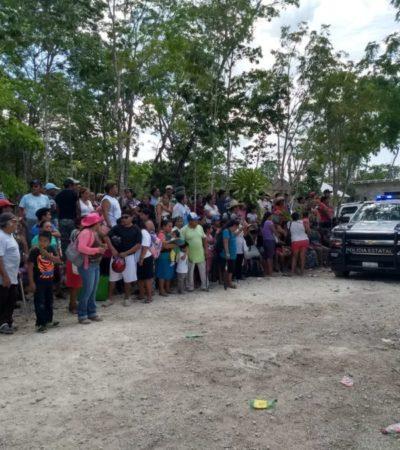 Seguridad Pública vigila medición de predios en Los Faisanes para iniciar regularización de terrenos