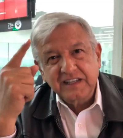 Ante videos 'asquerosos' del PRI y el PAN, AMLO convoca a contracampaña en redes sociales