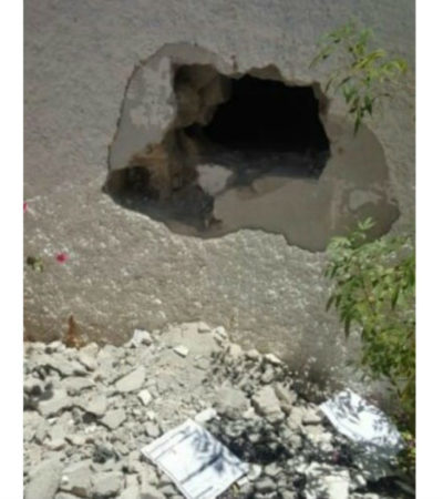 Tras realizar un boquete en los muros de una bodega de la PGR, se roban armas y droga en La Paz, BCS