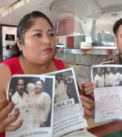 DENUNCIA EN SOLIDARIDAD: Juan Domínguez Osorio y Fabio Eladio Tun Chi, señalados por nepotismo, ganan 380 mil y 582 mil pesos al año gracias a la regidora Maribel Morales Orozco, acusa la perredista Eugenia Solís Puch