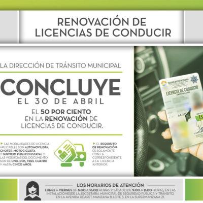 Sigue el descuento para renovar licencias de conducir en Benito Juárez