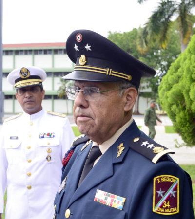 """""""APENAS ME VOY A INTERIORIZAR"""": Cornelio Casio Hernández queda al frente de la Guarnición Militar de Cancún"""