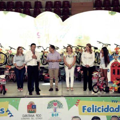 Ayuntamiento de Benito Juárez y Gobierno del Estado celebran a niñas y niños con motivo de su día