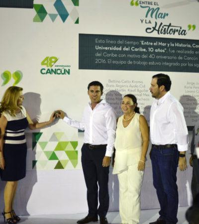 INAUGURA ALCALDE EXPOSICIÓN 'ENTRE EL MAR Y LA HISTORIA': Continúan los festejos del 48° Aniversario de la Fundación de Cancún