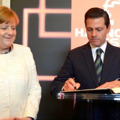 """""""México está viviendo este proceso con intensidad, es una elección competida"""", dice Peña Nieto desde Alemania"""