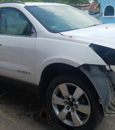 Desvalijada y en partes, recuperan camioneta con reporte de robo durante un operativo sorpresa en talleres de Chetumal