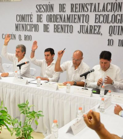 Reinstalan Comité de Ordenamiento Ecológico Local de Benito Juárez