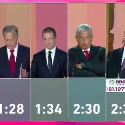 EL DEBATE, ENTRE MÁS DE LO MISMO Y TODOS CONTRA AMLO: Con ataques, promesas y evasivas, los cinco candidatos a la Presidencia tuvieron su primer 'round'
