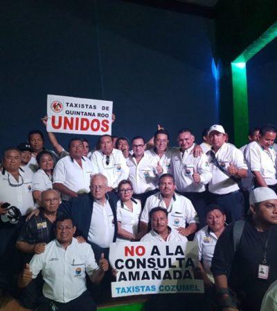 Taxistas de Cozumel se oponen a consulta ciudadana