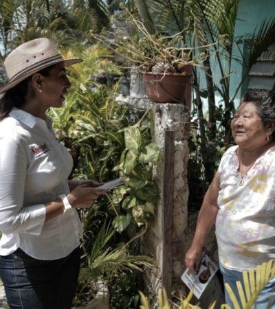 Ofrece Marybel Villegas gestionar recursos para seguridad y recuperación de playas en Cozumel