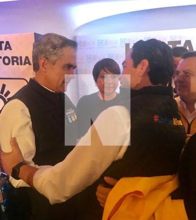 En primer día como candidato, 'Chanito' Toledo se reúne con dirigencia nacional del PRD, así como con Miguel Ángel Mancera