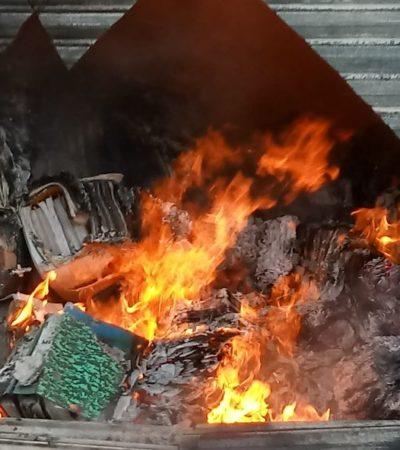 ¡QUÉ CONVENIENTE!: Incendio en bodega de Sesa destruye documentos del sexenio pasado