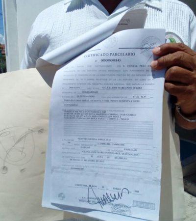 Interpone demanda para rescatar terreno en Tulum