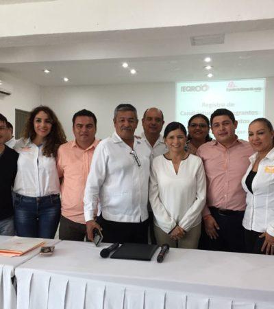Presenta alianza PAN-PRD-MC solicitud de registro de candidatos a alcaldías en Quintana Roo
