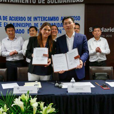 Firma Solidaridad acuerdo amistoso con Xiangshan, China
