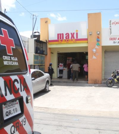 Con complicidad de un taxista, tres hombres asaltan carnicería con violencia en la Región 229 para llevarse sólo $1,200