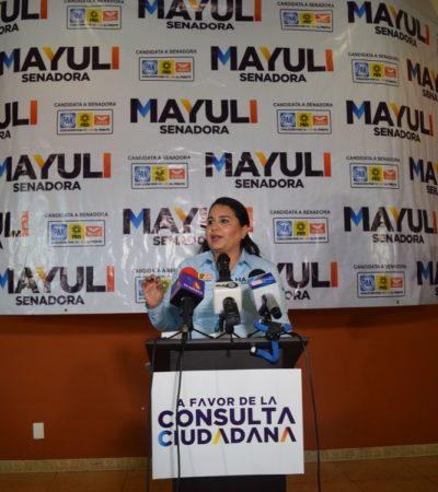 PROVOCA CONSULTA DEBATE ELECTORAL: Sale al quite Mayuli y revira a Morena y a otros opositores que no quieren que ciudadanos voten sobre sobre la permanencia de Uber