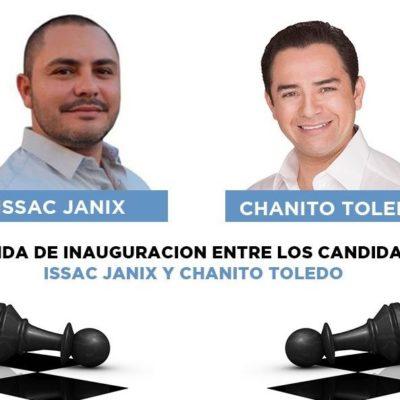 CANDIDATOS EN CANCÚN VAN POR EL 'JAQUE MATE': Se medirán Issac Janix y 'Chanito' Toledo en partida de ajedrez